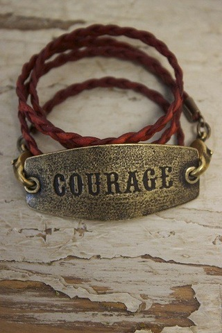 Courage Leather Wrap Bracelet