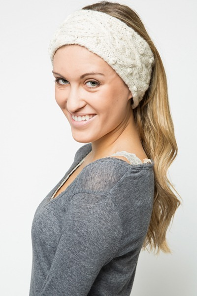 French Knot Designs Cable Goddess Headband