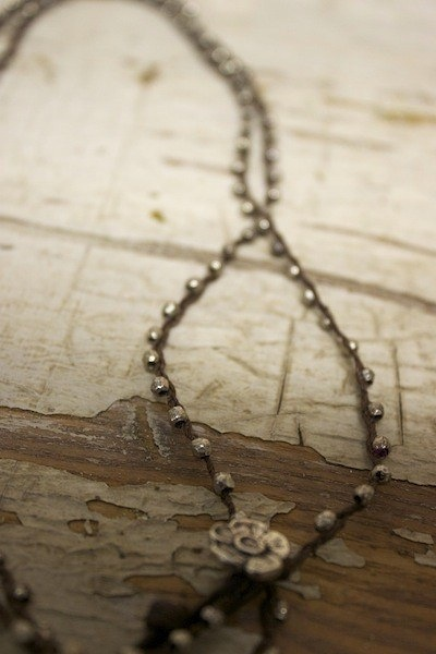 Love Heals Hammered Bead Necklace 4