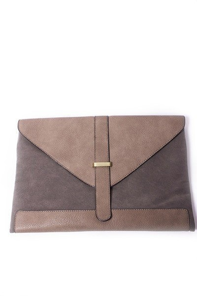 Lavand Grey Flap Clutch