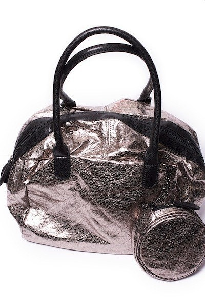 Lavand Quilted Metallic Bag