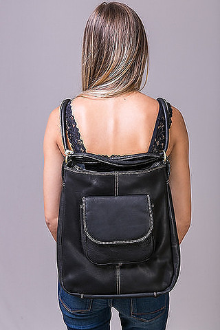Fredd & Basha Westside Convertible Backpack Black