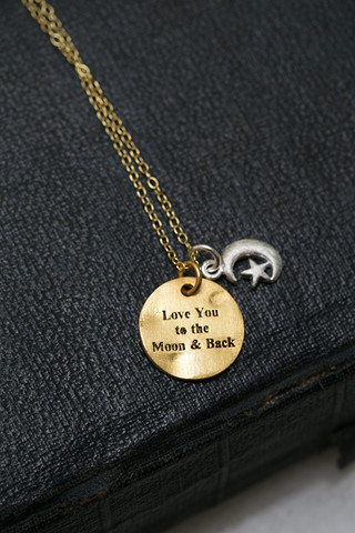 CAL Love You To The Moon Necklace