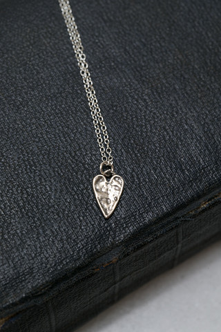 CAL Silver Love Heart Necklace