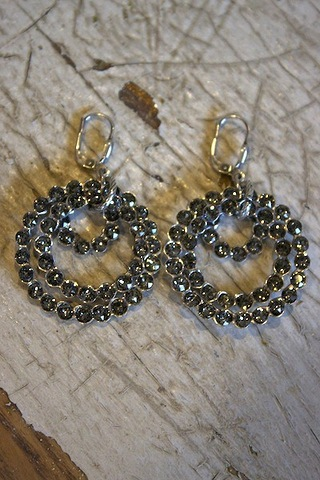 La Vie Parisienne Triple Circle Earrings