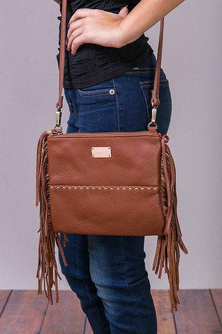 Fredd & Basha Oakley Cross Body Fringe Whiskey