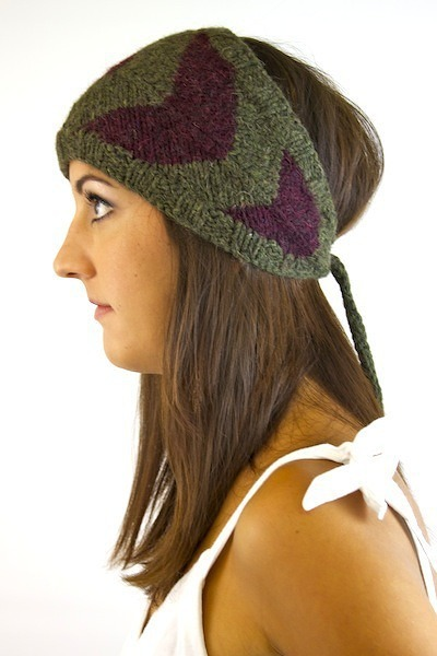 SD Hat Company Olive Knit Headband