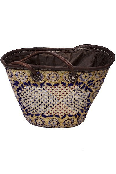 Blue Moroccan Basket