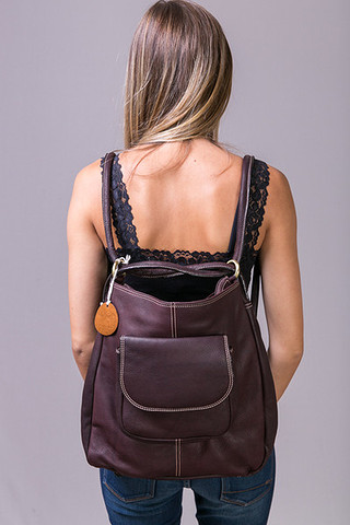 Fredd & Basha Westside Convertible Backpack Chocolate