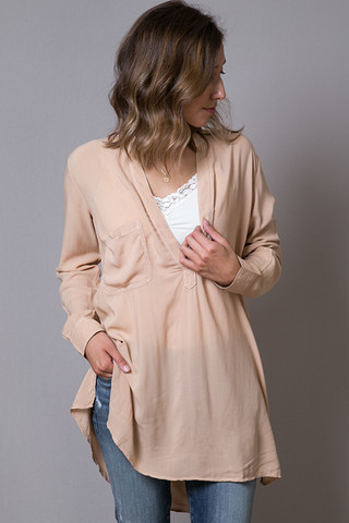 Blue Life Shirt Dress
