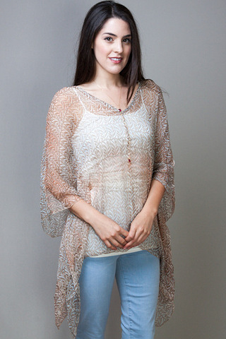 For Love & Liberty Paz Print Poncho