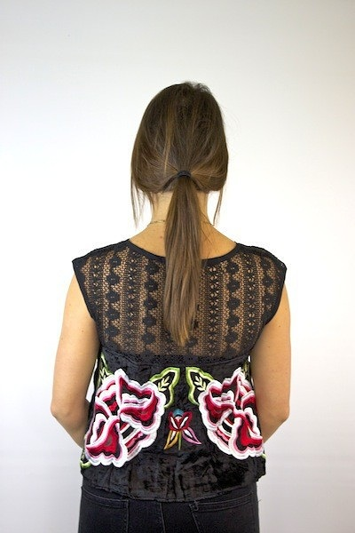 Free People Embroidered Native Rose Top 4