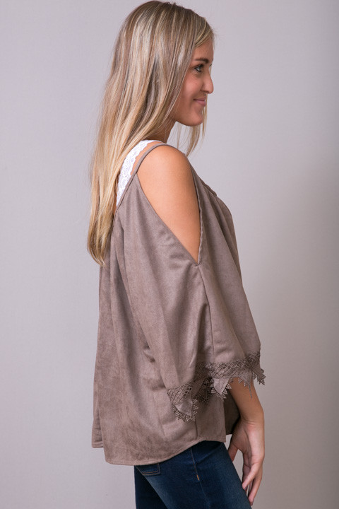 Hayden Suede Like Lace Tunic 3
