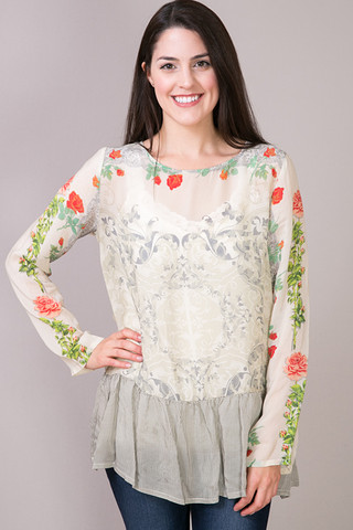 Johnny Was Collection Ruffle Hem Tunic