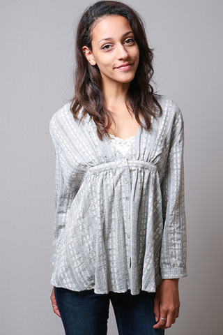 Mystree Pleasant Grey Top