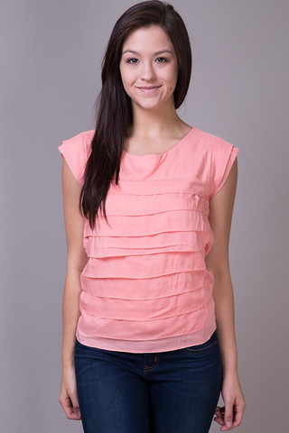 Pepa Loves Pink Scallop Top