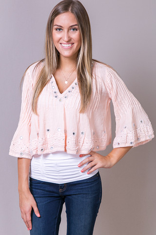 Raga Bardot Crop Cloud Pink
