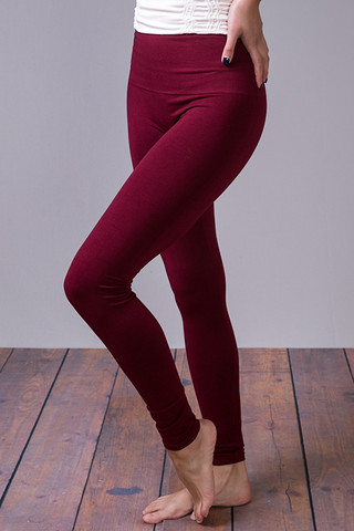 M. Rena Burgundy Tummy Tuck High Waisted Legging