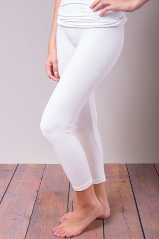 M. Rena White Cropped Legging
