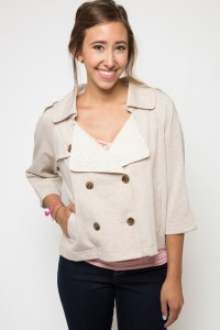 Cropped Boxy Terry Jacket
