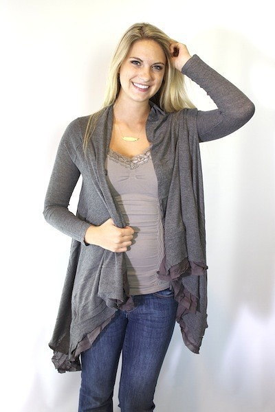 Mystree Open Drape Cardigan