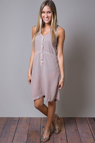 Cameo Cute As A Button Tank Dress