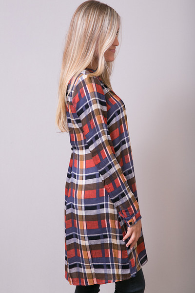 Mystree Rust Shirt Dress 2