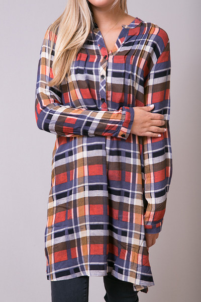 Mystree Rust Shirt Dress 3