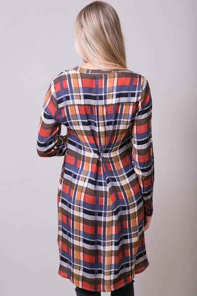 Mystree Rust Shirt Dress 4