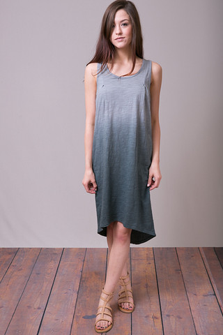 Mystree Teal Ombre Dress
