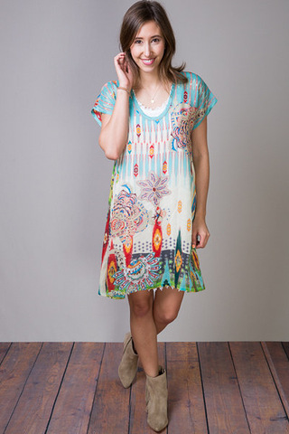 Johnny Was Collection Sunshine Long Tunic