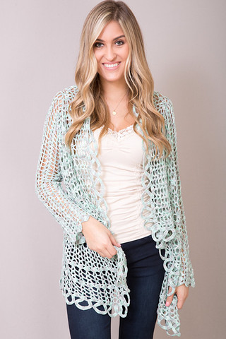 Mint Crocheted Cover Up