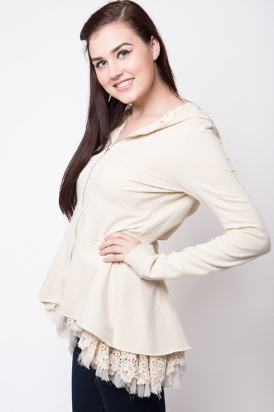 For Love & Liberty Peplum Hoodie