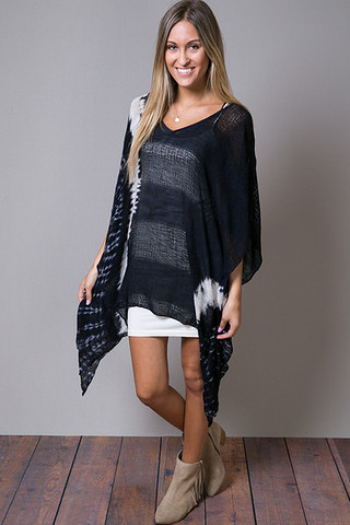 Blue Life V Neck Cape Cool
