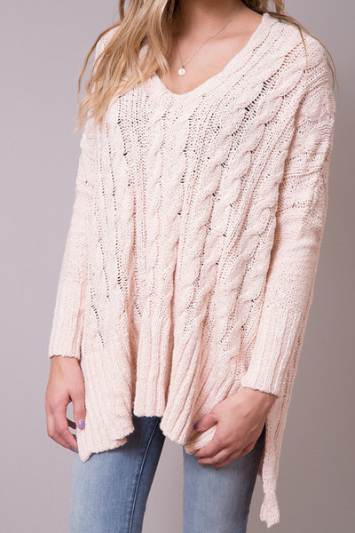 Free People Easy Cable Sweater 4