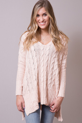 Free People Easy Cable Sweater
