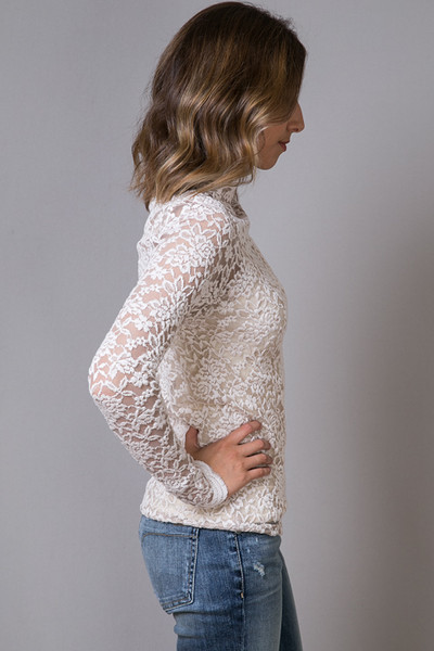 O2 Collection Mocha Lace Turtle Neck 3
