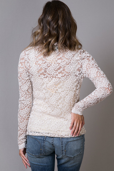 O2 Collection Mocha Lace Turtle Neck 4