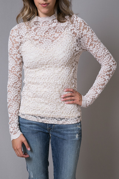 O2 Collection Mocha Lace Turtle Neck 2