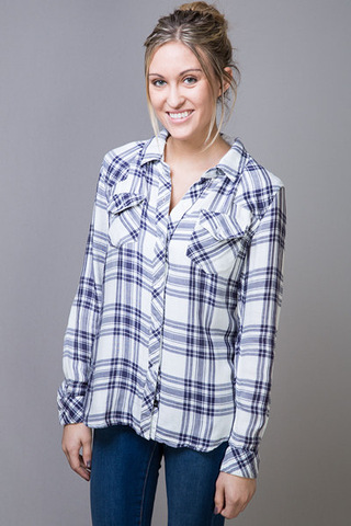 Kendra White Button Down