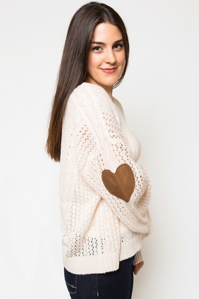 WILDFOX Heart Patch Lost Sweater