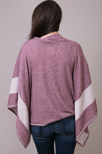 Woven Wine Pullover 3