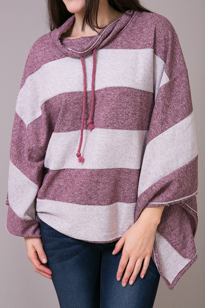 Woven Wine Pullover 4