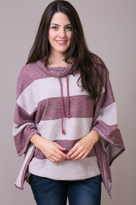 Woven Wine Pullover