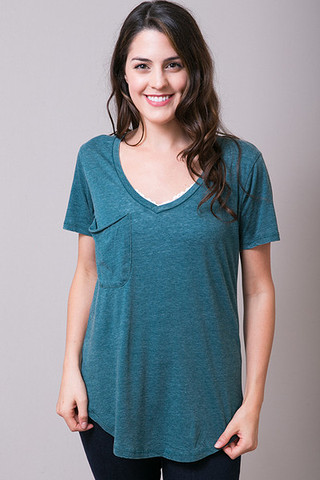 Z Supply The Pocket Tee Turquoise