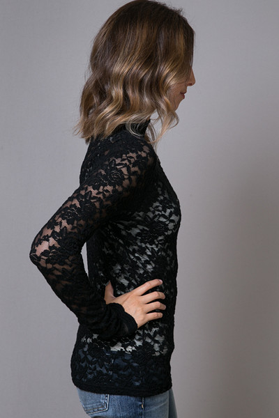 O2 Collection Black Lace Turtle Neck 3