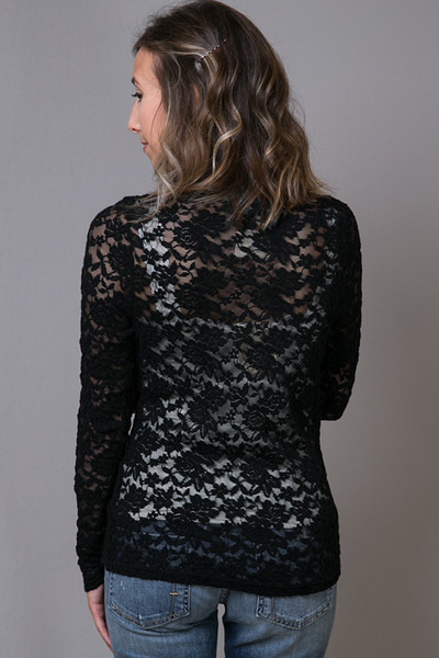 O2 Collection Black Lace Turtle Neck 4