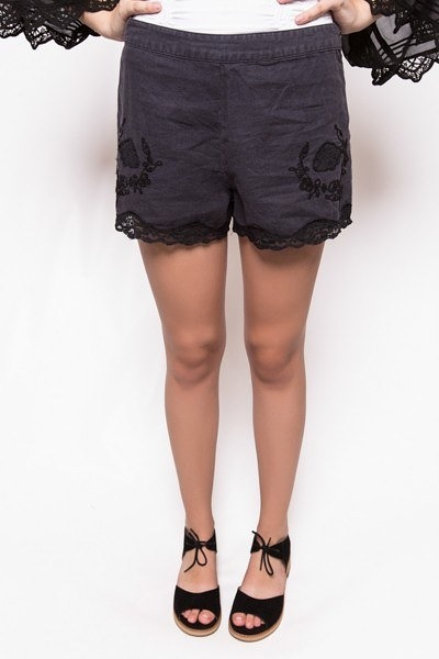 Free People Lacey Linen Short