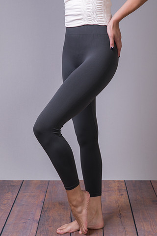 M. Rena Dark Grey Cropped Leggings
