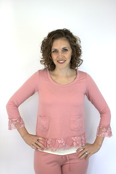 Odd Molly Dusty Pink Fleece Sweater